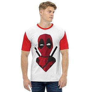 MARVEL - Deadpool Seta - Camiseta de Heróis
