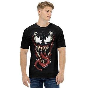 MARVEL - Venom Face - Camiseta de Heróis