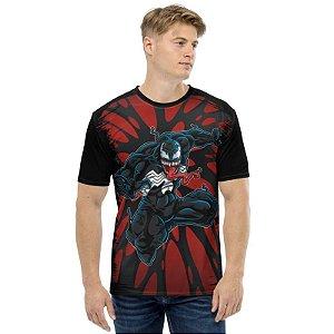 MARVEL - Venom Teias - Camiseta de Heróis