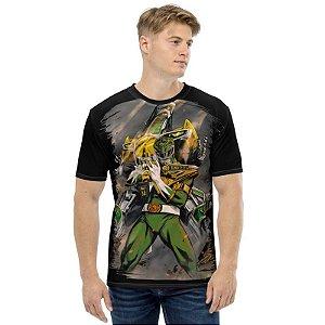 POWER RANGERS - Ranger Verde Preta - Camiseta de Tokusatsu