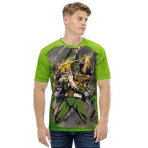 POWER RANGERS - Ranger Verde - Camiseta de Tokusatsu