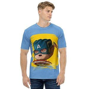 MARVEL HANDS - Capitão America - Camiseta de Heróis