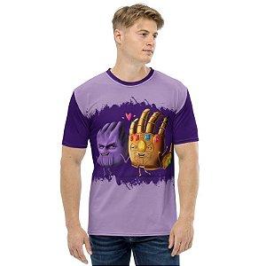 MARVEL HANDS - Thanos e a Manopla - Camiseta de Heróis