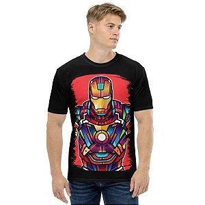 MARVEL VITRAIS - Homem de Ferro - Camisetas de Heróis