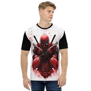 MARVEL - Deadpool Blood - Camiseta de Heróis
