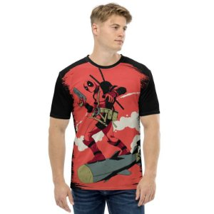 MARVEL - Deadpool Torpedo - Camiseta de Heróis