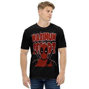 MARVEL - Deadpool Maximum Effort - Camiseta de Heróis