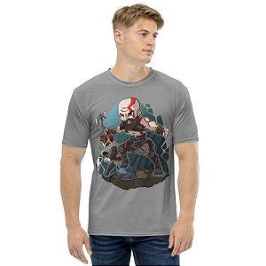 GOD OF WAR - Kratos & Artreus Chibby - Camiseta de Games