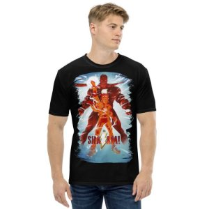 DC COMICS - Shazan & Billy Betson - Camiseta de Heróis