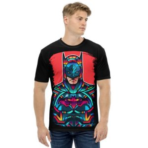 DC COMICS - Vitrais Batman - Camiseta de Heróis