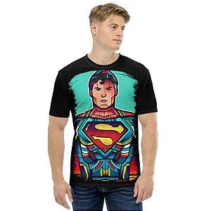 DC COMICS - Vitrais Superman - Camiseta de Heróis