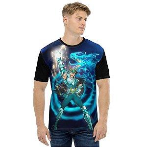 CAVALEIROS DO ZODÍACO - Saint Seya Shiryu Punho do Dragão - Camiseta de Animes