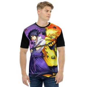 NARUTO - Rinnegan Versus Rikudou - Camiseta de Animes