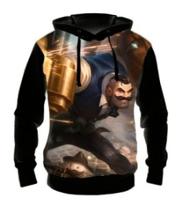 LEAGUE OF LEGENDS - Braum Mafioso - Casaco de Moletom Games