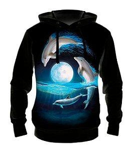 ANIMAIS - Golfinhos - Casaco de Moletom variado