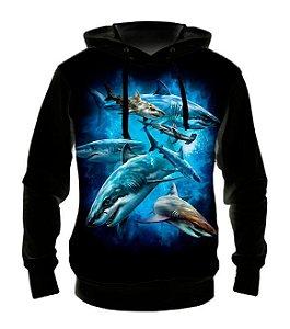 ANIMAIS - Tubarões - Casaco de Moletom variado