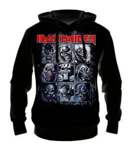 IRON MAIDEN - 9 Eddies - Casaco de Moletom Rock Metal