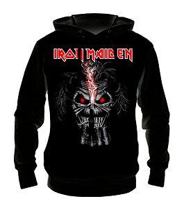 IRON MAIDEN - Eddie Face - Casaco de Moletom Rock Metal