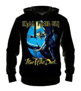 IRON MAIDEN - Fear of The Dark - Casaco de Moletom Rock Metal