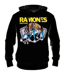 RAMONES - Road to Ruins - Casaco de Moletom Rock Metal