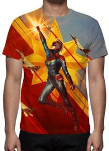 MARVEL - Capitã Marvel Modelo 3 - Camiseta de Cinema