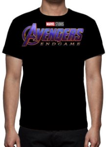 MARVEL - Vingadores - Ultimato Logo End Game - Camiseta de Cinema