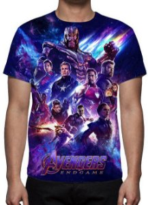 MARVEL - Vingadores Ultimato Modelo 5 - Camiseta de Cinema