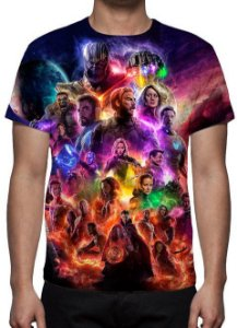 MARVEL - Vingadores Ultimato Modelo 1 - Camiseta de Cinema