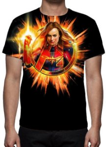 MARVEL - Capitã Marvel - Avengers - Camiseta de Cinema