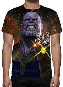 MARVEL - Vingadores Guerra Infinita - Thanos Modelo 1 - Camiseta de Cinema