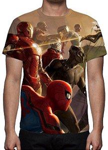 MARVEL - Vingadores - Equipe Modelo 2 - Camiseta de Cinema