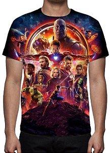 MARVEL - Vingadores Guerra Infinita - Modelo 1 - Camiseta de Cinema