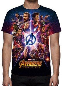 MARVEL - Vingadores Guerra Infinita - Modelo 2 - Camiseta de Cinema