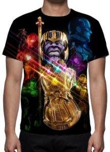 MARVEL - Vingadores Ultimato - Modelo 8 - Camiseta de Cinema
