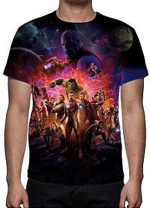 MARVEL - Vingadores Guerra Infinita - Modelo 3 - Camiseta de Cinema