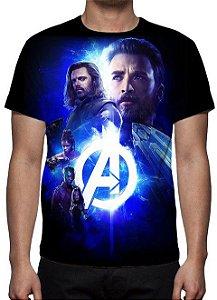MARVEL - Vingadores Guerra Infinita - Joias Modelo 3 - Camiseta de Cinema