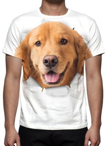 ANIMAIS - Cão Golden Retrivier - Camisetas Variadas