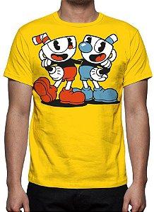 CUPHEAD - Amarela - Camiseta de Games