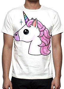 ANIMAIS - Unicórnio Branco - Camisetas Variadas