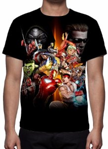 MARVEL vs CAPCOM - Camiseta de Games