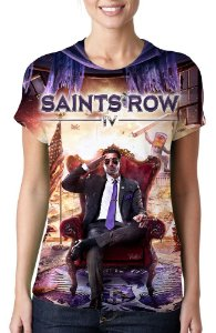 SAINTS ROW IV - Camiseta de Games