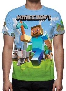 MINERCRAFT - Azul - Camiseta de Games
