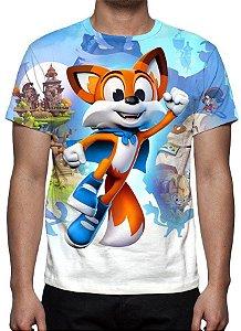 SUPER LUCKY TALE - Camiseta de Desenhos
