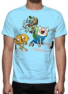 HORA DE AVENTURA - Azul - Camiseta de Desenhos