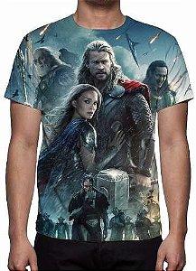 MARVEL - Thor Mundo Sombrio Modelo 2 - Camiseta de Cinema