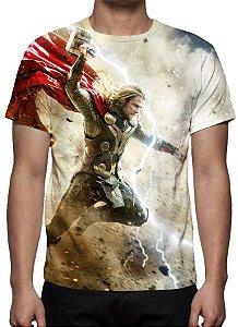 MARVEL - Thor Mundo Sombrio - Camiseta de Cinema