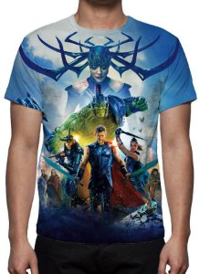 MARVEL - Thor Ragnarok Azul - Camiseta de Cinema