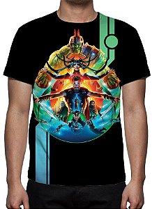 MARVEL - Thor Ragnarok Preta - Camiseta de Cinema