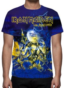 IRON MAIDEN - Live After Death - Camiseta de Rock