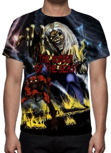 IRON MAIDEN - The Number of The Beast Modelo 1 - Camiseta de Rock